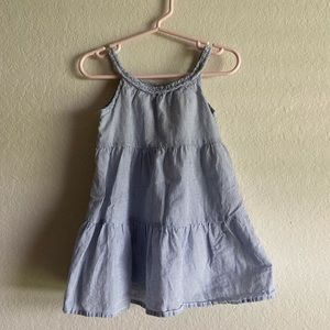 Blue Pinstriped Toddler Dress